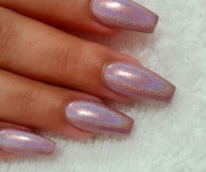 nails, beautiful, and color image