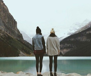 friends, best friends, and mountains image