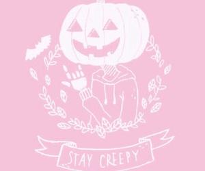 Halloween, pink, and creepy image