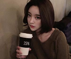 girl, asian, and coffee image