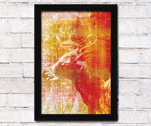 abstract art, poster, and yellow image