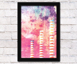 abstract art, chimney, and poster image