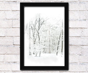 abstract art, poster, and snow image
