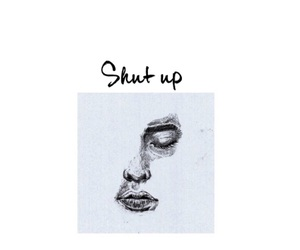 art, shut up, and silence image