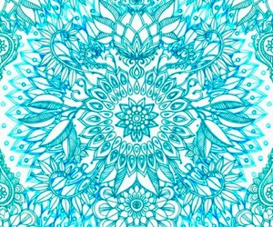 blue, wallpaper, and mandala image