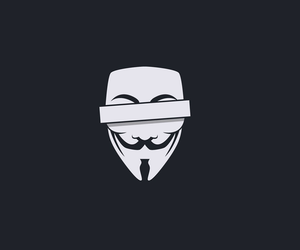 anonymous, black and white, and v for vendetta image