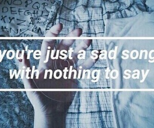 quote, sad, and song image