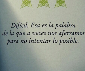 difícil and frases image