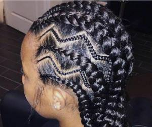 beauty, braids, and cornrows image