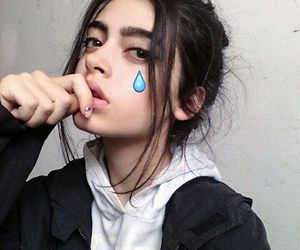 girl, pale, and tear image