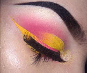 art, bright, and makeup image