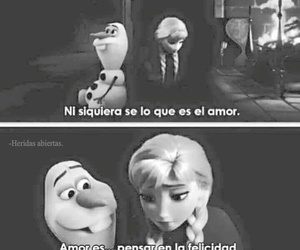 love, frozen, and frases image