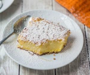 cake, condensed milk, and icing sugar image