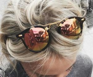 fashion, sunglasses, and hair image