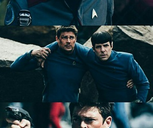 bones, star trek, and spock image