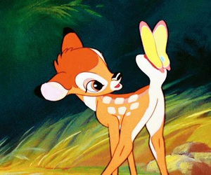 bambi, disney, and butterfly image