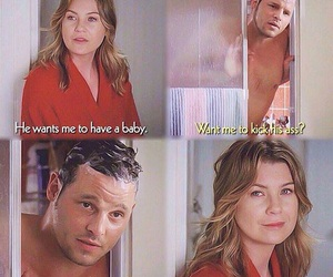 meredith grey, alex karev, and grey's anatomy image