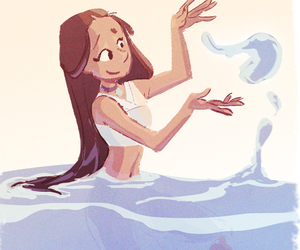 fanart, katara, and waterbending image