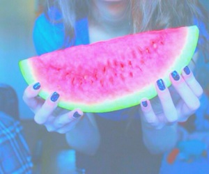 watermelon, yummy, and food image