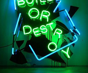neon, light, and green image