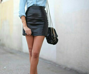 black purse, gold hoops, and black ankle booties image
