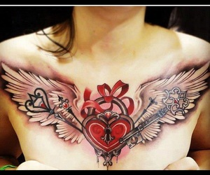 wings tattoo and heart wings image