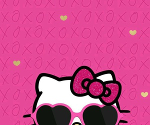 glitter, hello kitty, and leopard print image