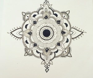 art, pattern, and black and white image