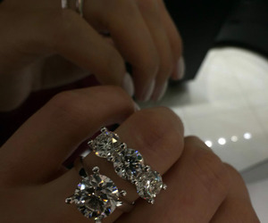 ring, sparkle, and wedding image