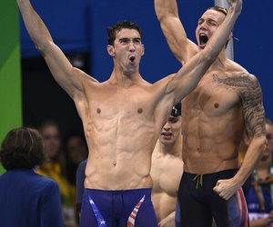 Michael Phelps, rio, and swimming image