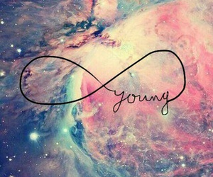 Forever Young, galaxy, and tumblr image