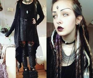 alternative, dreadlocks, and goth image
