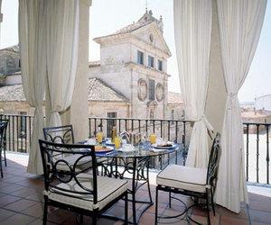 breakfast, luxury, and balcony image