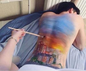art, boy, and couple image
