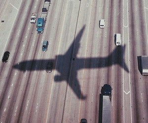 travel, airplane, and car image