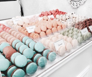 food, macaroons, and pastel image