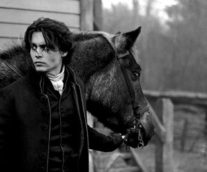 johnny depp, horse, and sleepy hollow image