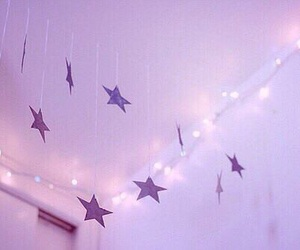 stars, light, and pink image