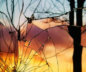 sunset, mirror, and photography image