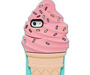 food, ice cream cone, and iphone image