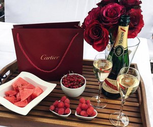 luxury, rose, and red image