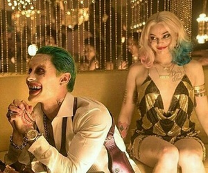 harly quinn, suicide squad, and joker image