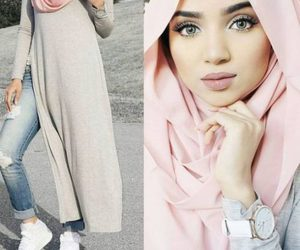 cute pink hijab image