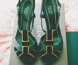 shoes, gucci, and green image