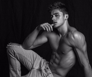abs, beautiful, and black and white image