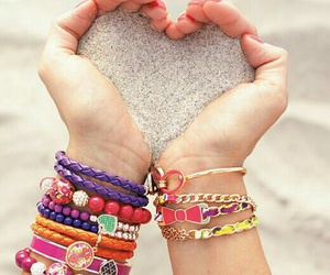 beach, bracelets, and friends image