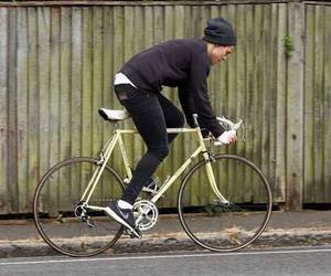 Harry Styles, one direction, and bike image