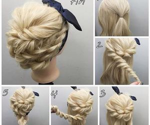 hairstyle, diy, and tutorial image