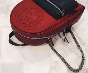 bag, black, and red image