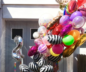 balloons, birthday, and goals image